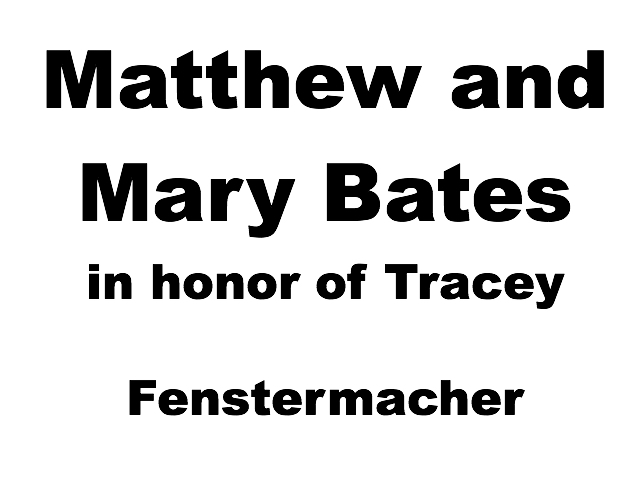 Matthew and Mary Bates