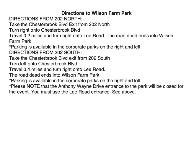 directions to wilson farm park