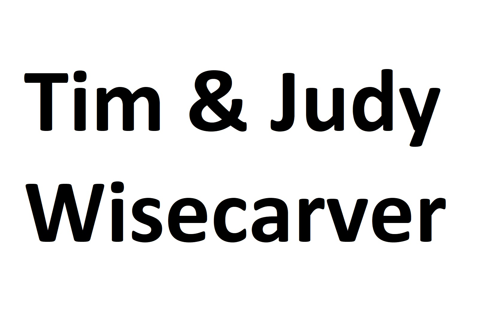 Tim and judy wisecarver
