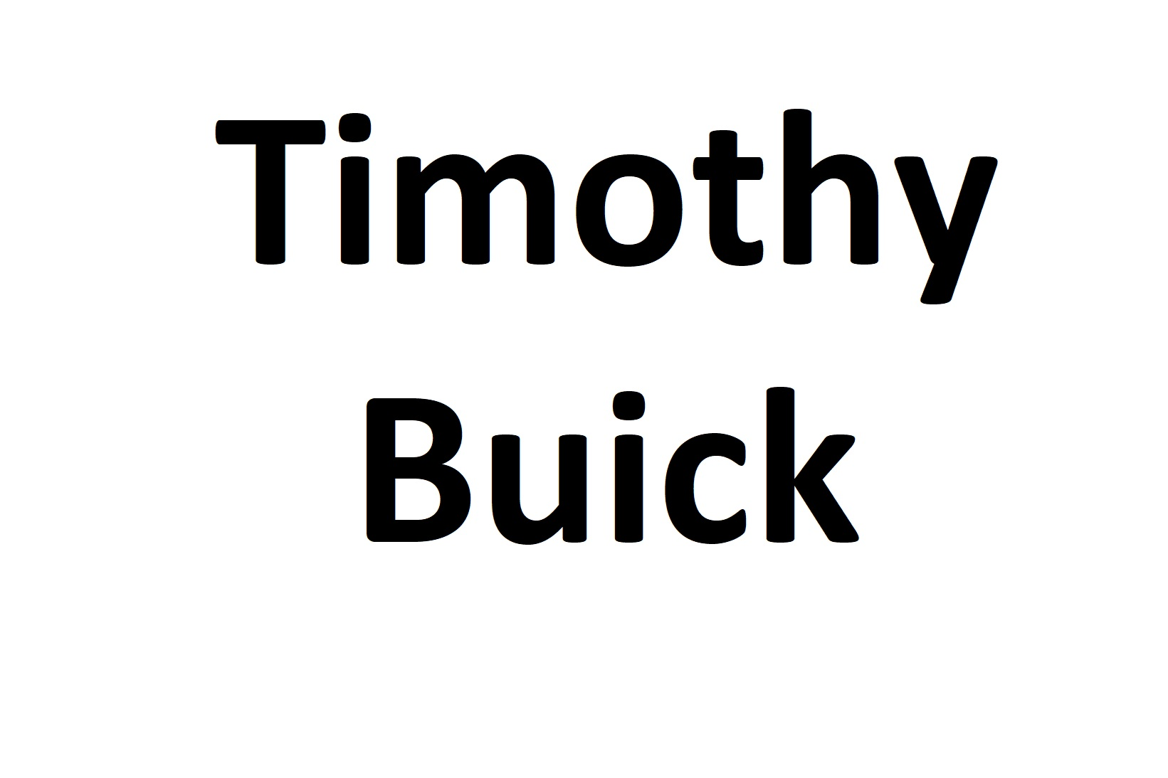 Timothy Buick